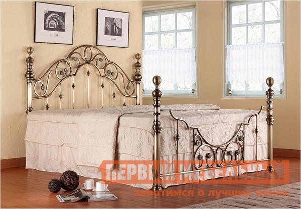Кровать Tetchair Victoria + основание Античная медь, С матрасом, 1600 Х 2000 мм от Купистол