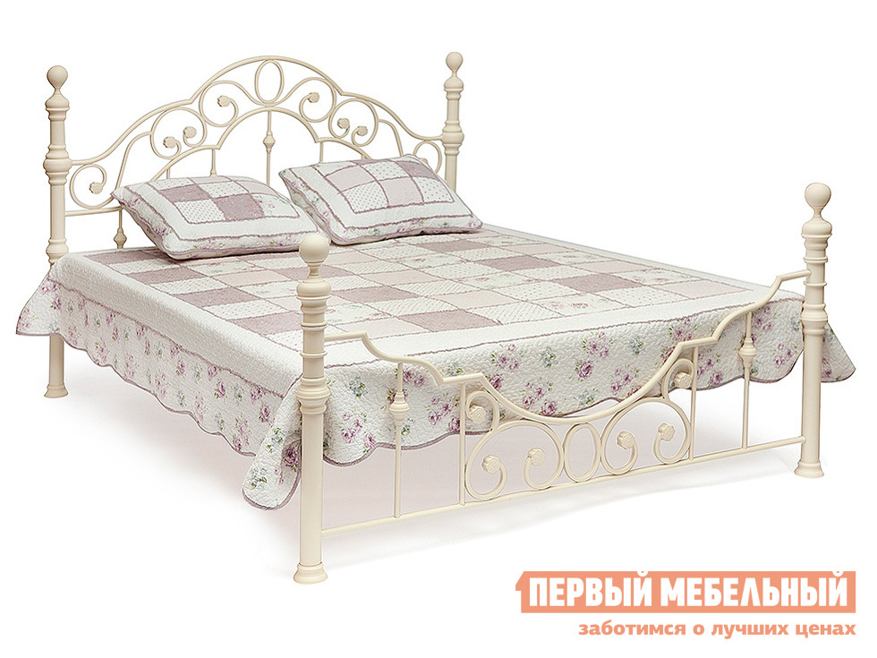 Металлическая двуспальная кровать Tetchair Victoria + основание