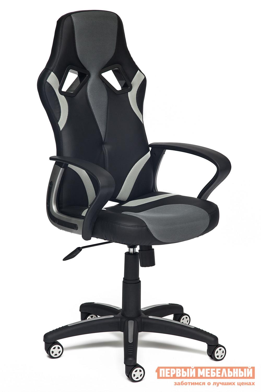 Игровое кресло Tetchair Runner Иск.кожа черная / Ткань серая, 36-6/12 от Купистол