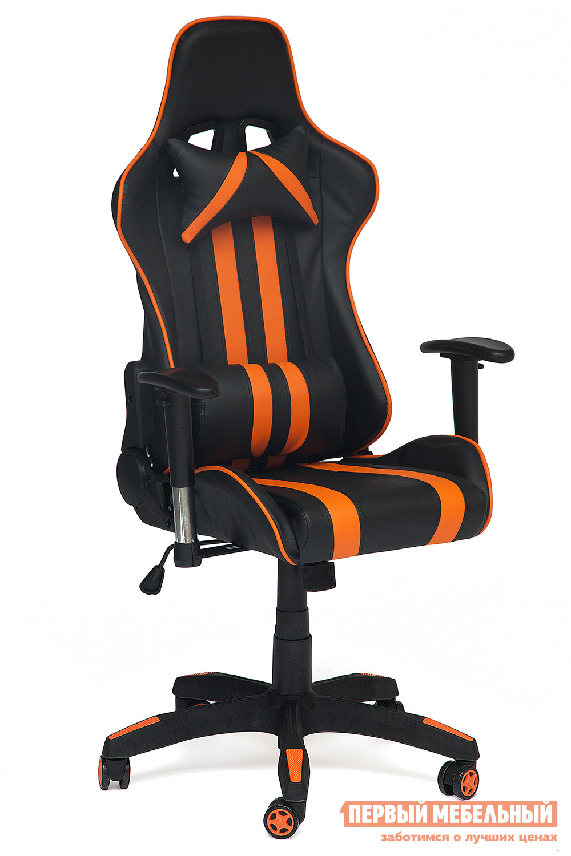 Игровое кресло  iCar Иск. кожа черная / оранжевая — iCar Иск. кожа черная / оранжевая