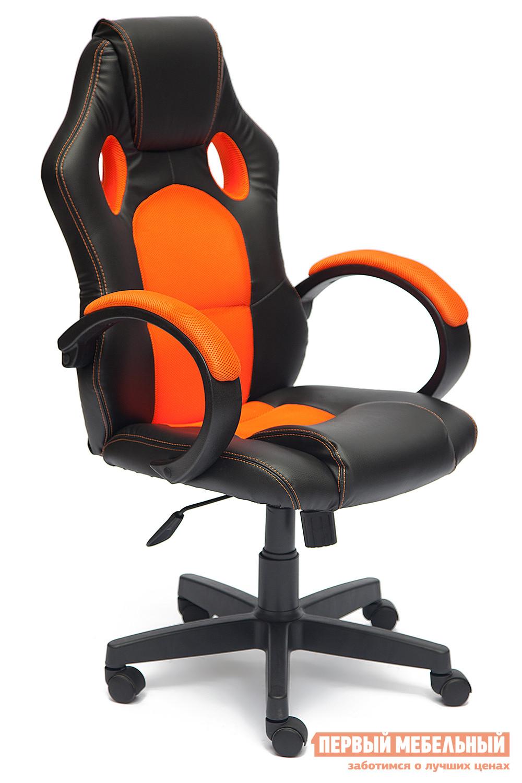 Игровое кресло Tetchair RACER GT Иск.кожа черная / Ткань оранжевая, 36-6/07