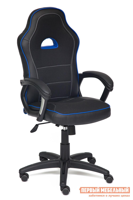 Компьютерное кресло Tetchair SHUMMY Иск. кожа черная/Ткань черная+синяя