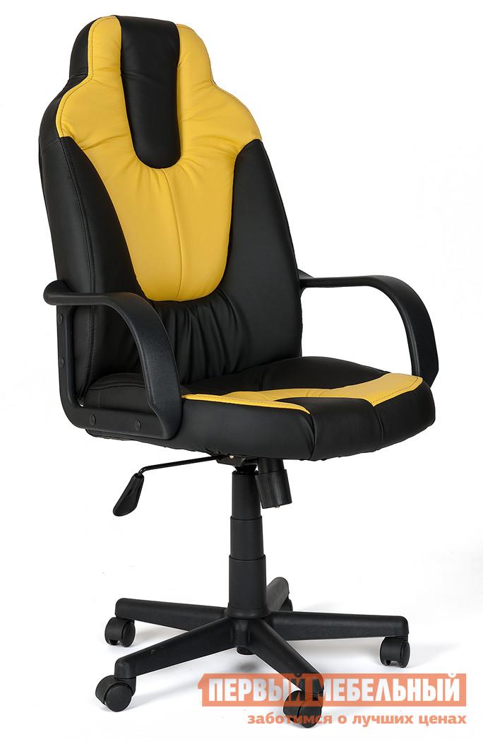 Игровое кресло Tetchair NEO (1) Иск. кожа черная / желтая