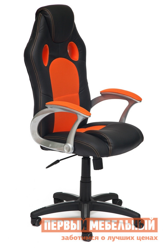 Компьютерное кресло Tetchair Racer Иск. кожа черная / оранжевая