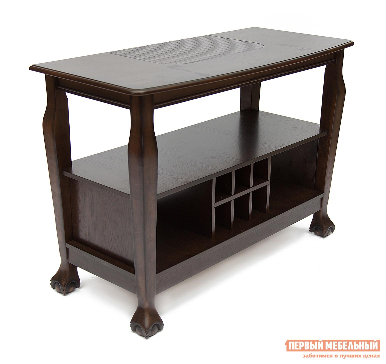 Барный стол Tetchair DNSG-5236 Темный дуб (Минди) / Вставка ротанг (МДФ)