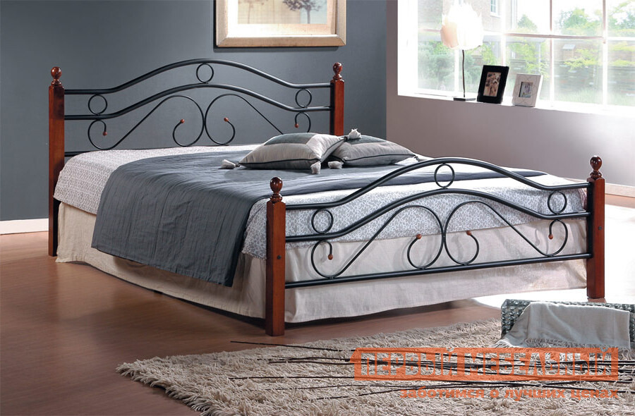 Металлическая двуспальная кровать Tetchair AT-803 кровать tetchair at 8077 120x200