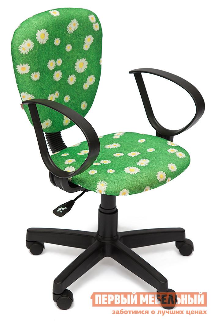 Фото Компьютерное кресло Tetchair CH413 Ткань «Ромашки на зеленом». Купить с доставкой