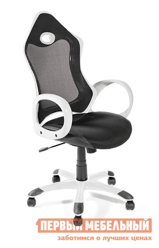 Офисное кресло Tetchair LAREDO (388 Н01) white/black Черная сетка/белый пластик/Черная ткань TW+иск. черн. кожа от Купистол