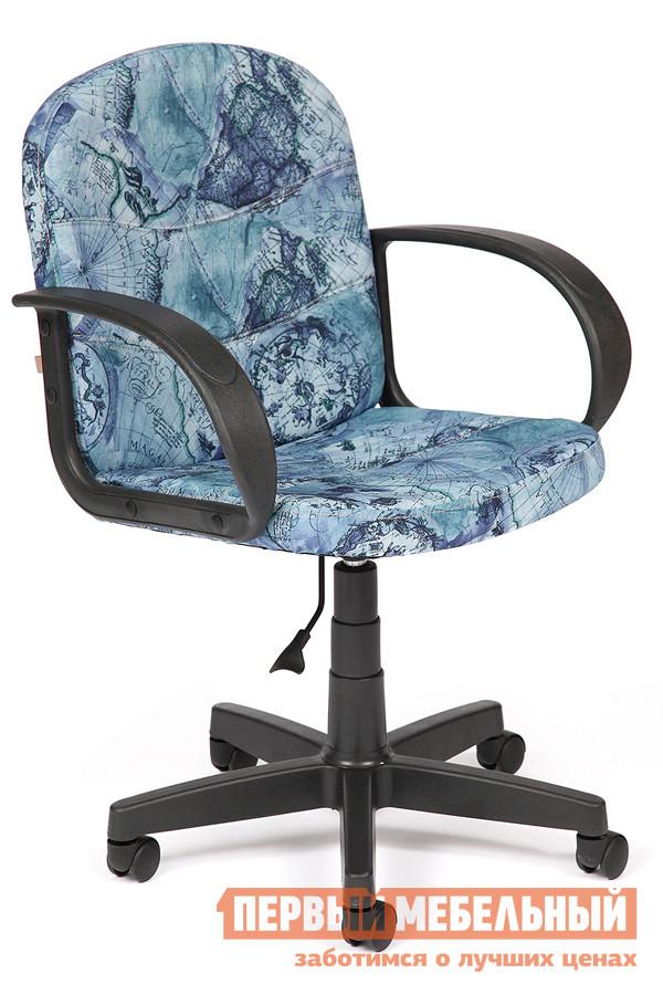 Фото Офисное кресло Tetchair BAGGI Ткань «Карта на синем». Купить с доставкой