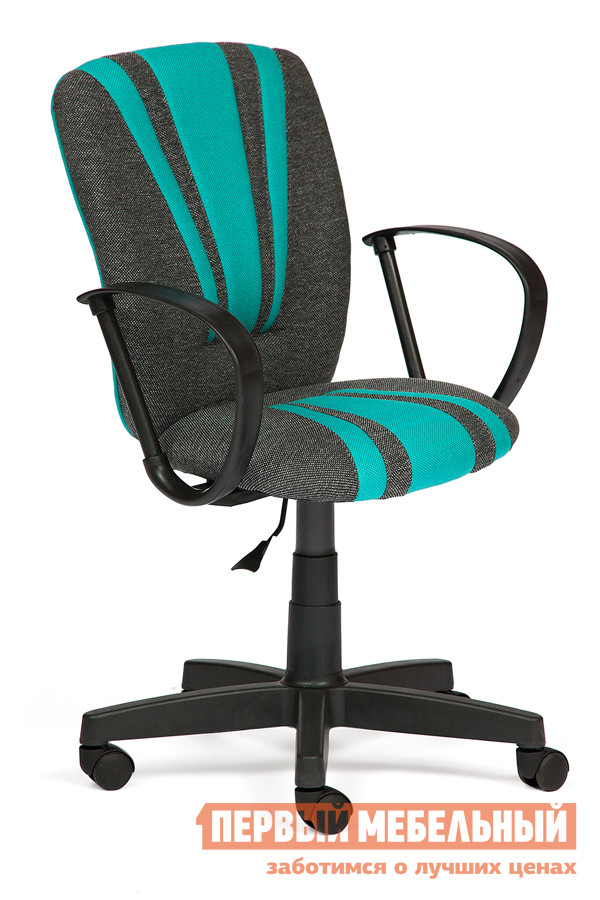 Офисное кресло Tetchair Spectrum Ткань, Серо-Бирюзовый, 207/2607