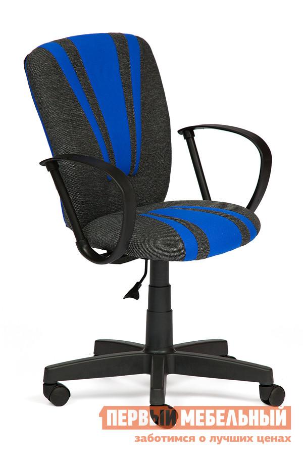 Фото Офисное кресло Tetchair Spectrum Ткань серая / синяя. Купить с доставкой