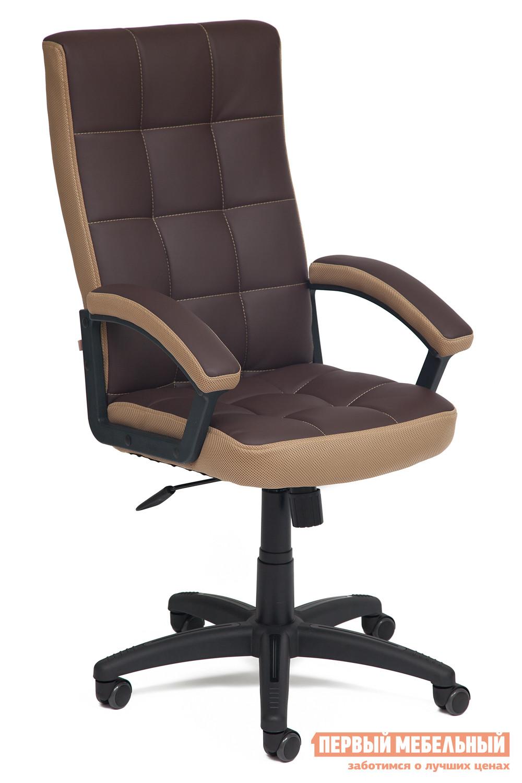 Офисное кресло  Trendy New Коричневый, иск.кожа / Бронза, ткань Tetchair 59511