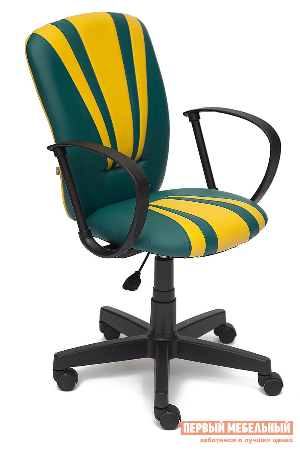 Офисное кресло Tetchair Spectrum К/з темн. бирюзовый / желтый