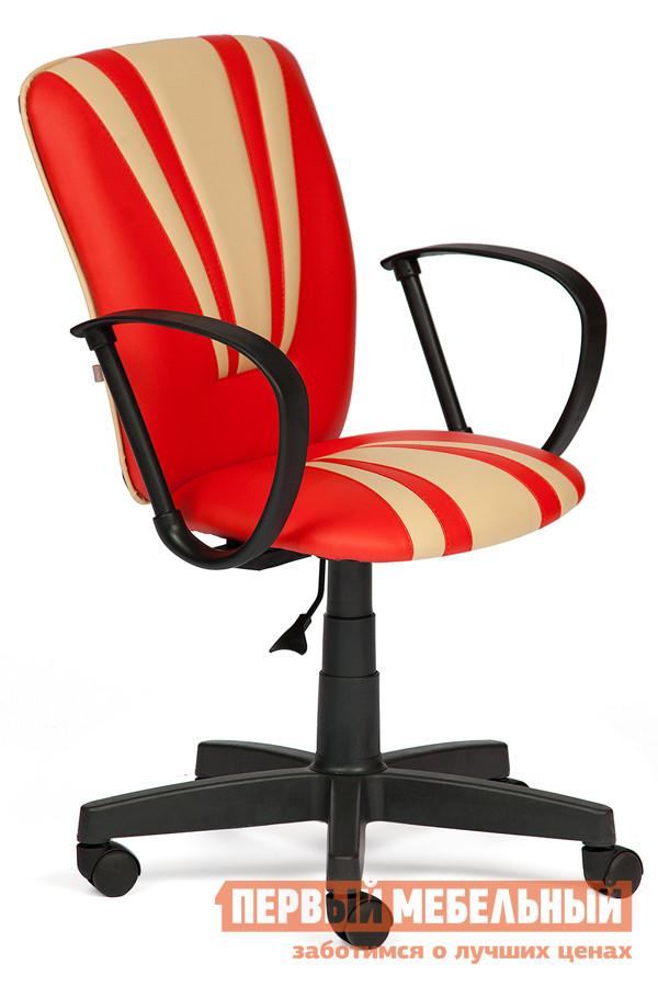 Офисное кресло Tetchair Spectrum К/з красный / бежевый