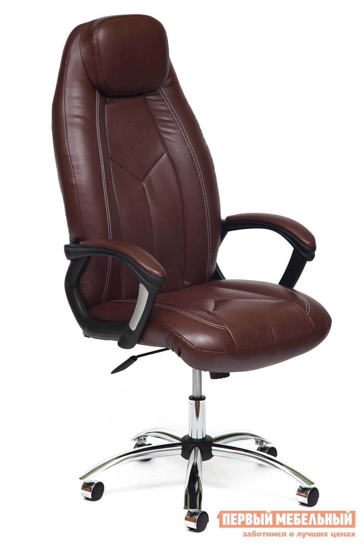Кресло в офис для руководителя Tetchair BOSS (хром)