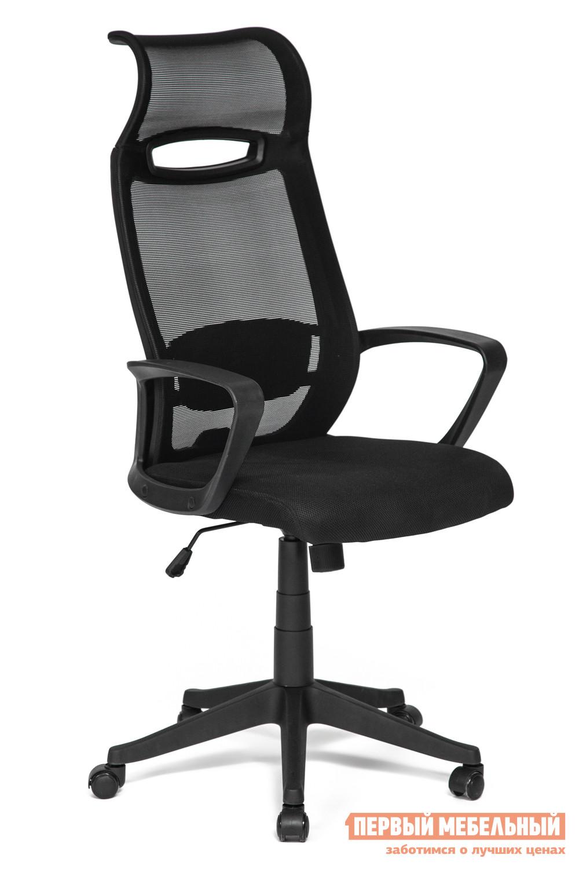 Кресло руководителя Tetchair City Ткань черная/сетка черная TW 11