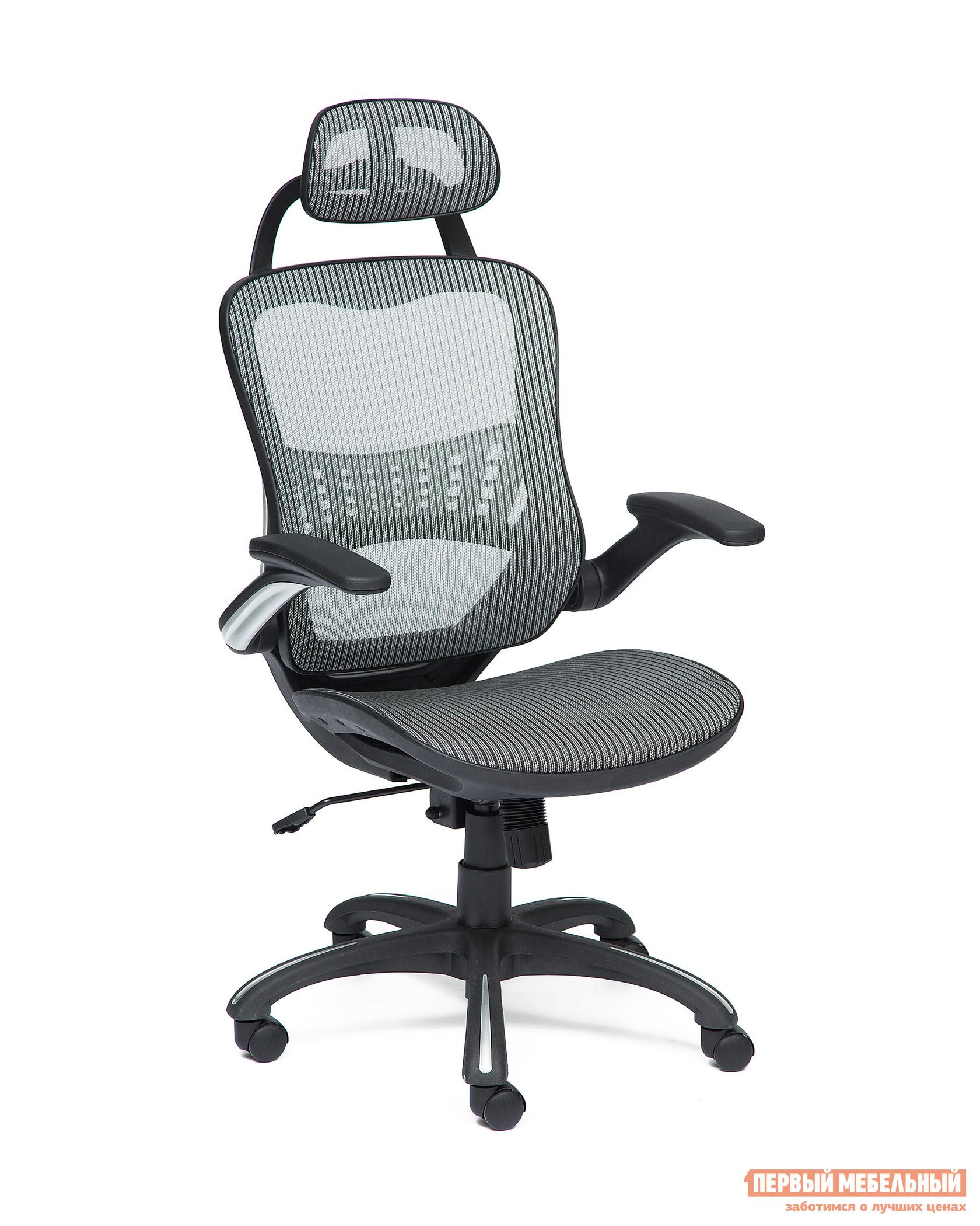 Кресло руководителя  Mesh-1 Серая ткань