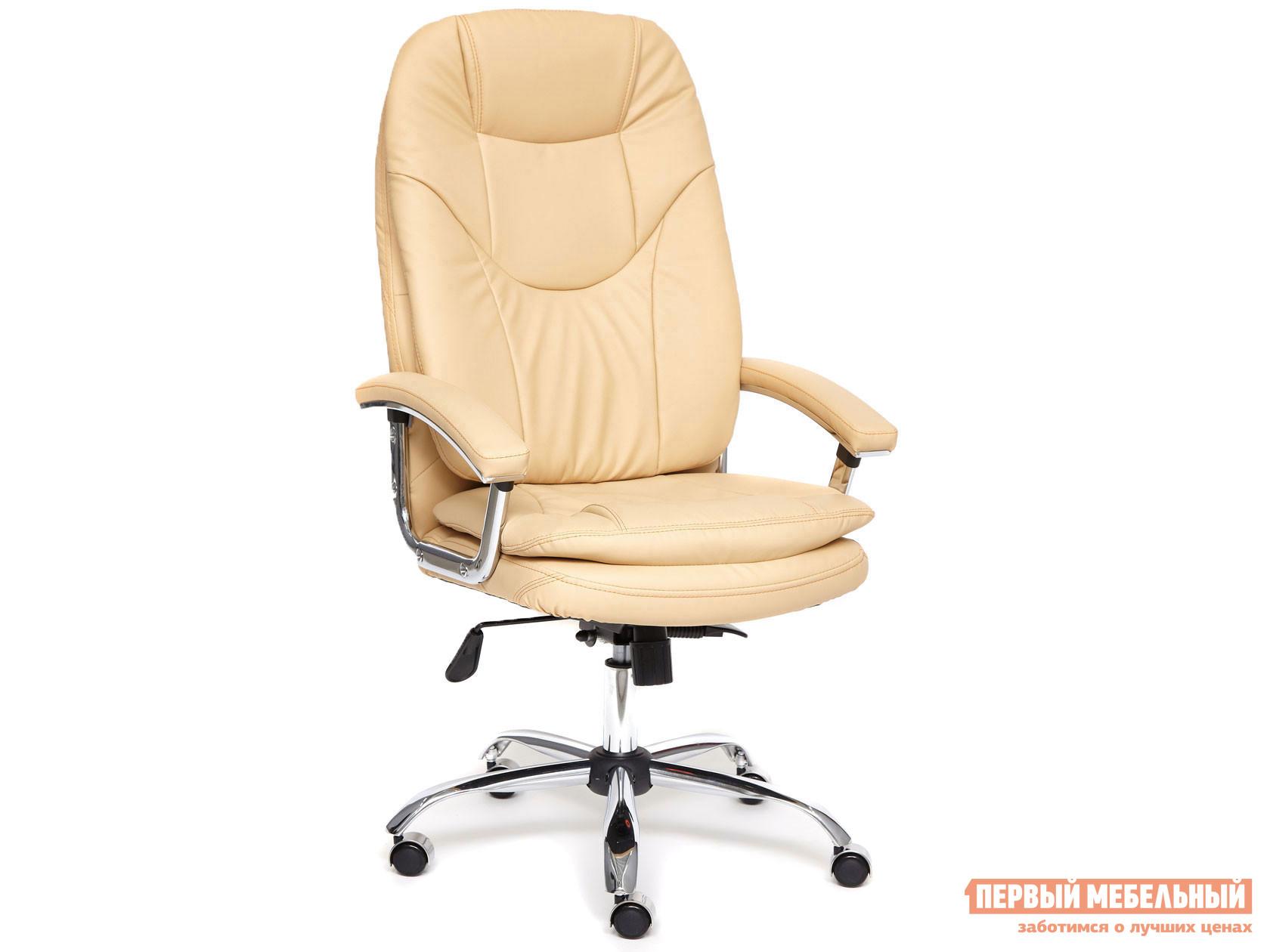 Кресло руководителя  Кресло SOFTY LUX иск. кожа Иск. кожа, бежевый, 36-34