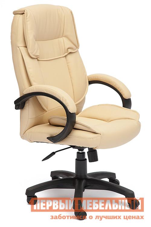 Кресло руководителя Tetchair OREON Иск.кожа бежевая перфор. (36-34/36-34/06)