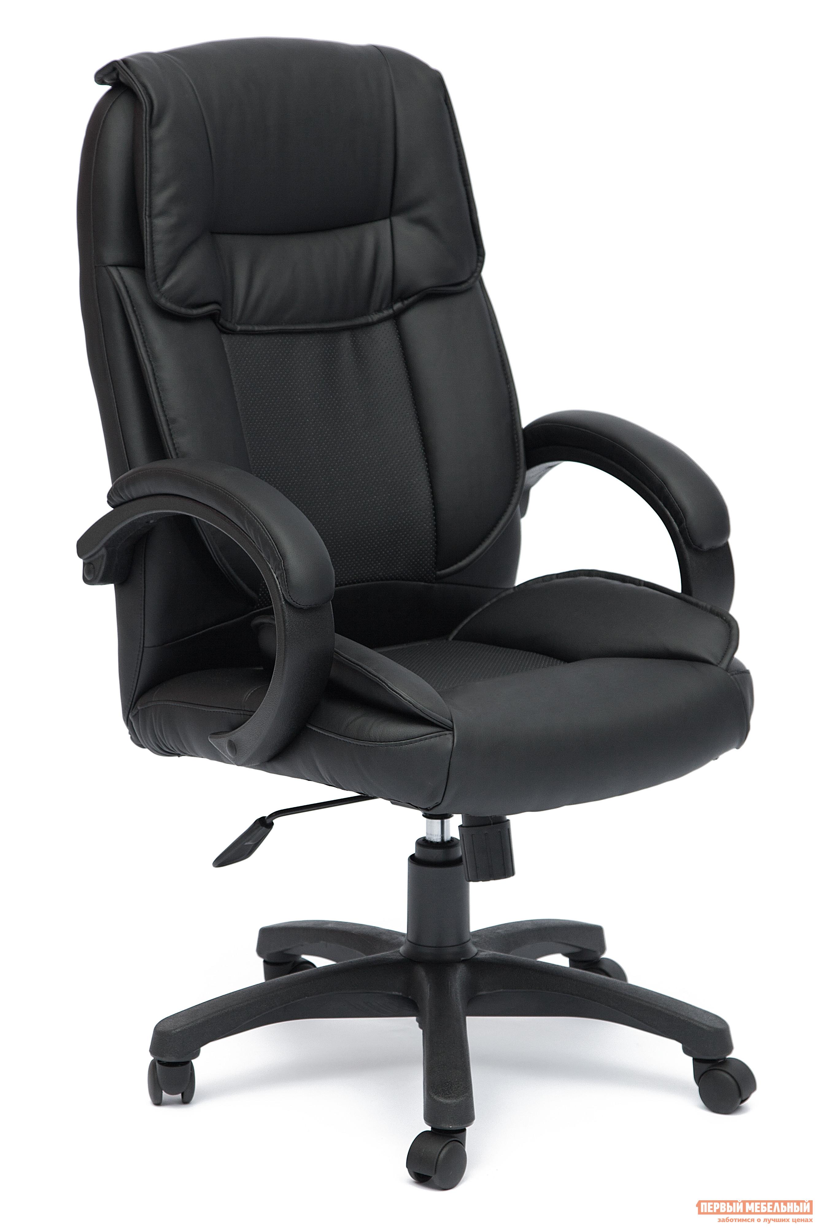 Кресло руководителя Tetchair OREON Иск.кожа черная перфор. (36-6/36-6/06)