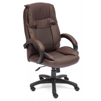 Кресло руководителя Tetchair OREON Иск.кожа коричневая перфор. (36-36/36-36/06)