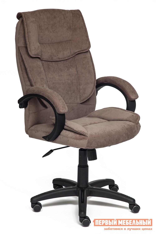 Кресло руководителя Tetchair OREON Ткань, коричневый, Смоки броун