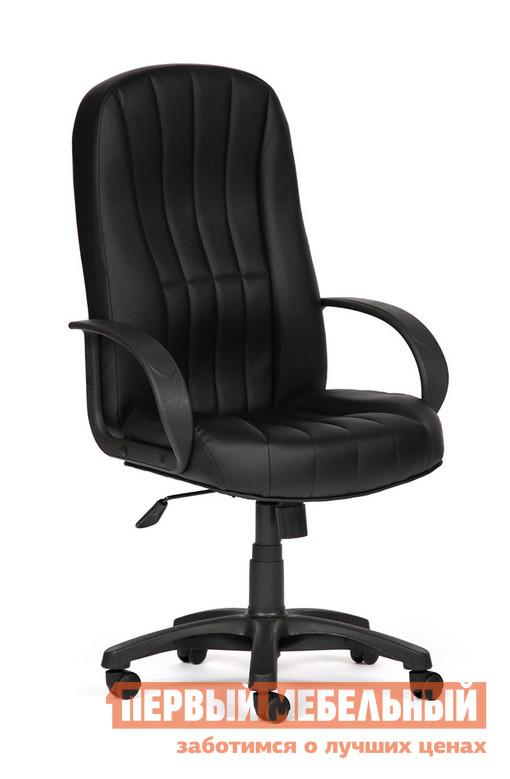Кресло руководителя Tetchair CH767 Иск. кожа черная PU C36-6 Tetchair Габаритные размеры ВхШхГ 1220/1340x630x510 мм. Классическое кресло для руководителя.  Модель Выполнена в лаконичном стиле плавных линий.  Такое кресло станет отличным решением для офиса или домашнего кабинета. </br>Особенностью модели является повышенная эргономика спинки и сидения — в кресле будет комфортно работать весь день. Изделие оснащено механизмом качания с фиксацией в вертикальном положении. </br>Высота регулируется благодаря механизму «газ-лифт». </br>Высота от пола до сидения — 510/630 мм. </br>Высота спинки кресла — 710 мм. </br>Ширина сидения — 500 мм. <br>Максимальная нагрузка на кресло — 120 кг. <br>Крестовина и подлокотники выполнены из пластика, обивка — высококачественная искусственная кожа. <br>
