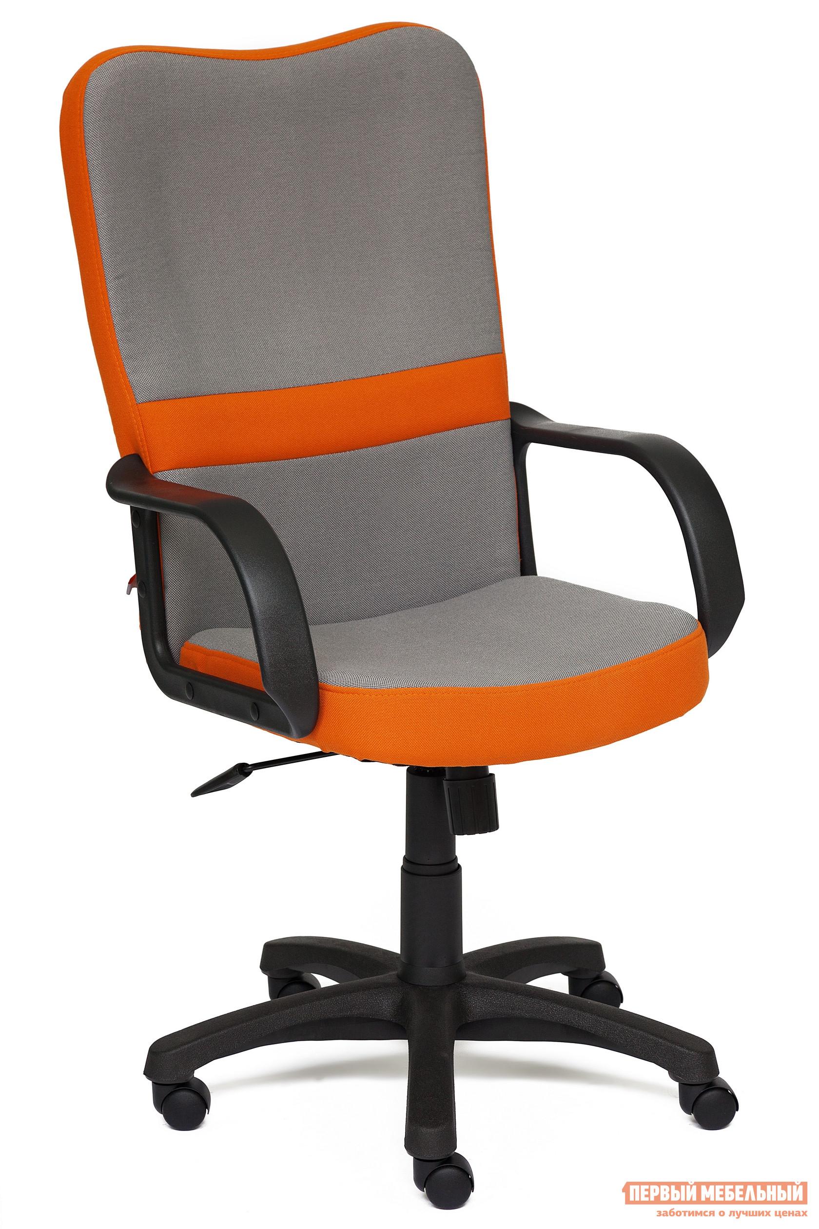 Кресло руководителя  CH757 Ткань серая/оранжевая, С27/С23