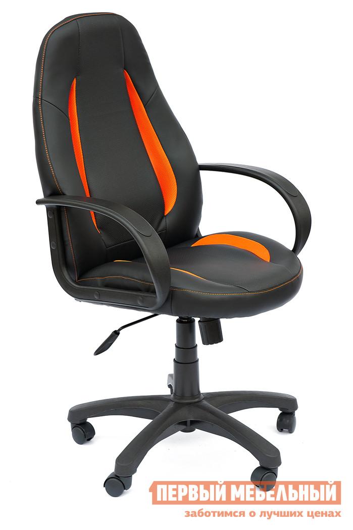 Кресло руководителя Tetchair Enzo Черный / Оранжевый, PU-C36-6/PU-C36-6/06/TW07