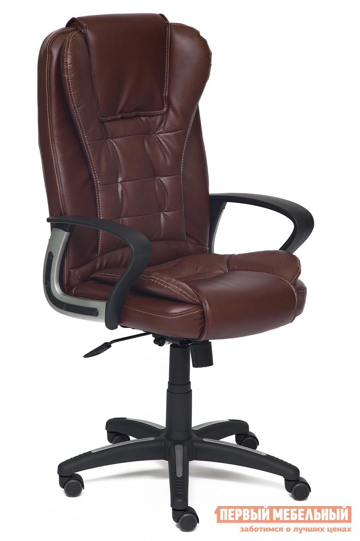 Кресло руководителя Tetchair Baron Иск.кожа коричневый 2 TONE/Коричневый перфор. 2 TONE