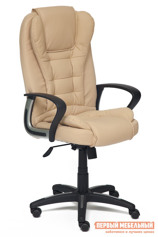 Кресло руководителя Tetchair Baron Иск.кожа бежевая перфор. (36-34/36-34/06)