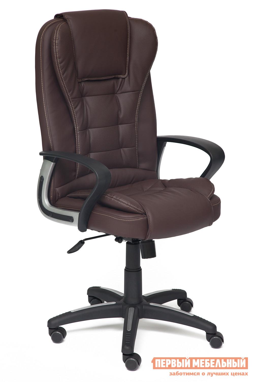 Кресло руководителя Tetchair Baron Иск.кожа коричневая перфор. (36-36/36-36/06)