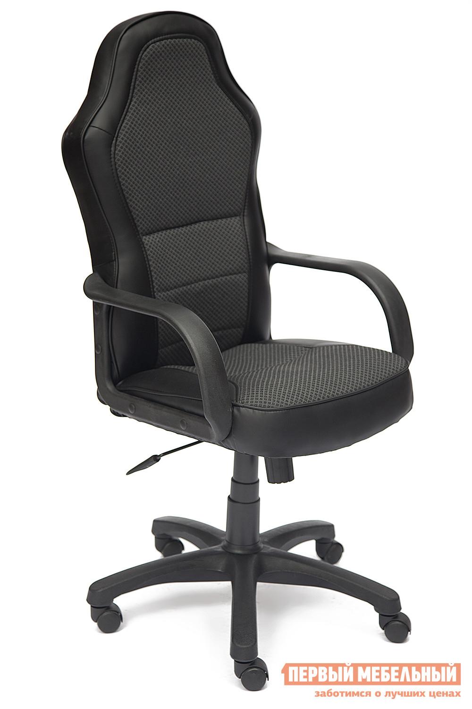 Кресло руководителя  KAPPA Иск. кожа черная / Серая ткань