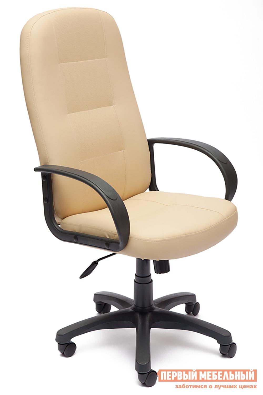 Кресло руководителя Tetchair Devon Иск.кожа бежевая перфор. (36-34/36-34/06)