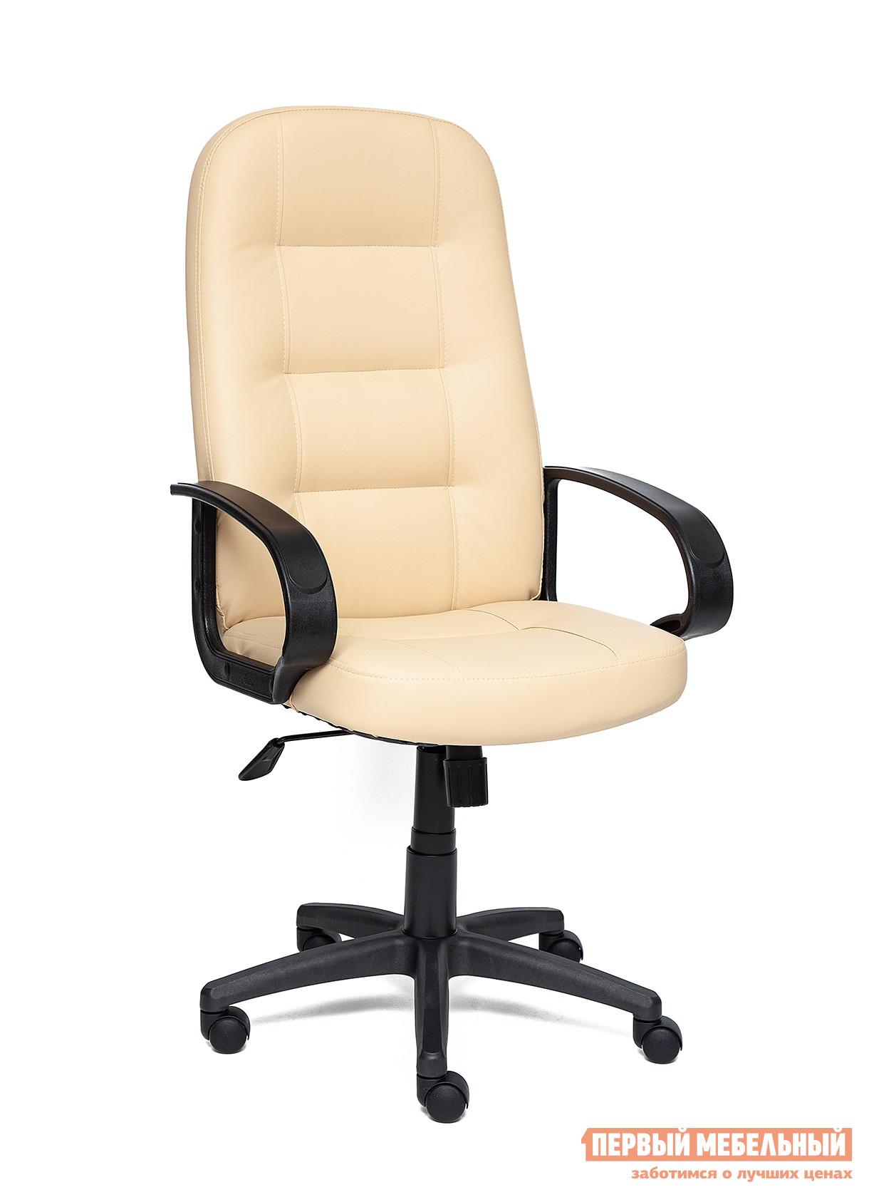 Кресло руководителя  Devon Иск. кожа бежевая PU C36-34