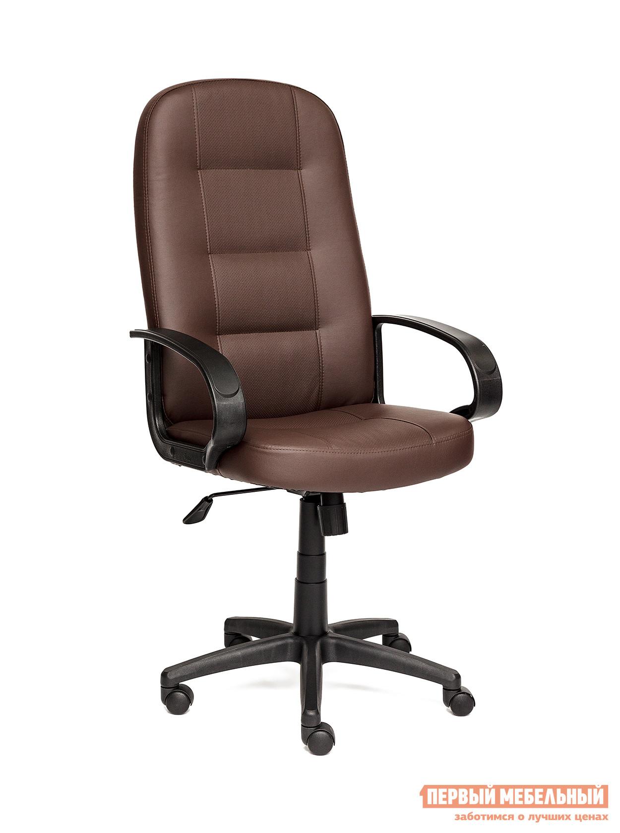 Кресло руководителя  Devon Иск.кожа коричневая перфор. (36-36/36-36/06)