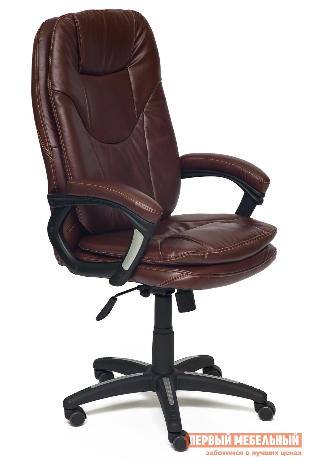 Кресло руководителя  COMFORT Иск. кожа коричневая 2 TONE