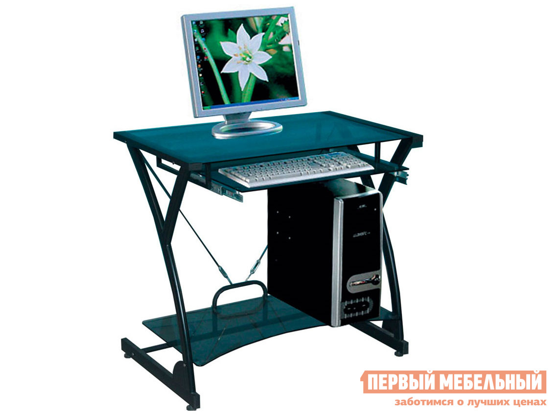 Стеклянный компьютерный стол Tetchair Dark Wader WRX-01 (AA-607B-1)