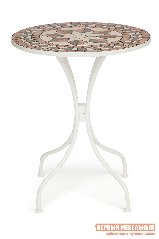 Садовый стол дачный круглый Tetchair ROMEO NEW (плитка звезда) садовый складной стул tetchair julia new плитка звезда