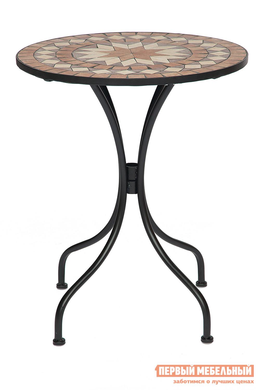 Садовый стол круглый дачный Tetchair ROMEO NEW (плитка Канада) садовый складной стул tetchair julia new плитка звезда
