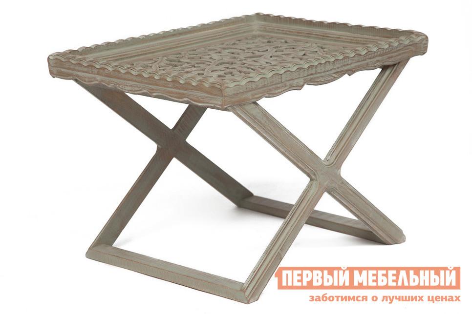 Фото Журнальный столик Tetchair Столик Secret De Maison SCULPTE (mod. 217-1121) Античный светло-серый. Купить с доставкой