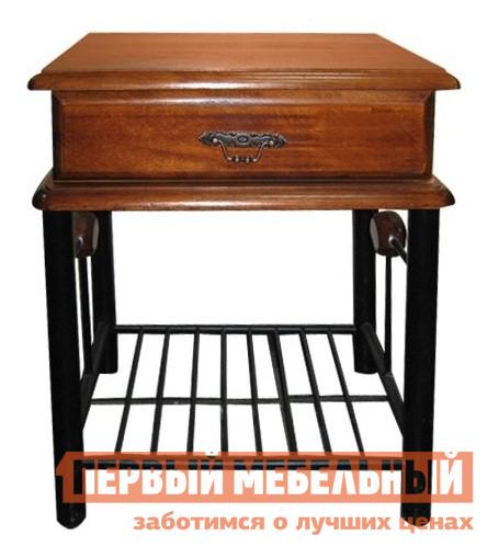 Прикроватная тумбочка Tetchair AT-300 Гевея / МеталлПрикроватные тумбочки<br>Габаритные размеры ВхШхГ 560x480x370 мм. Прикроватная тумбочка выполнена в сочетании металлического каркаса и деревянных элементов.  Модель имеет выдвижной ящик, удобную столешницу и решетку в основании для книг или журналов.  Модель прекрасно дополнит классический интерьер спальни.  Тумба выполнена из натуральной гевеи и металла.<br><br>Цвет: Гевея / Металл<br>Цвет: Черный<br>Цвет: Красное дерево<br>Высота мм: 560<br>Ширина мм: 480<br>Глубина мм: 370<br>Кол-во упаковок: 1<br>Форма поставки: В разобранном виде<br>Срок гарантии: 1 год<br>Материал: Металлические, Деревянные, Из натурального дерева<br>Порода дерева: из массива гевеи<br>Особенности: На ножках
