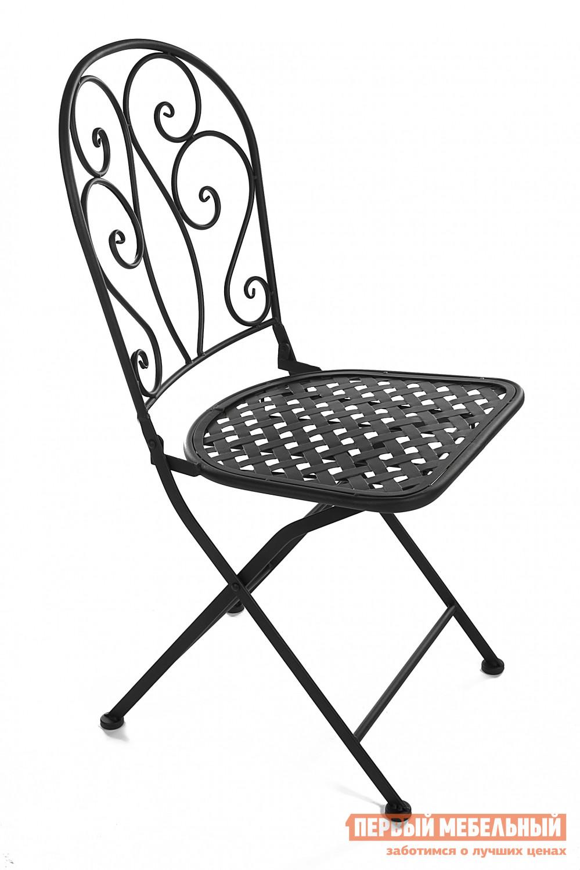 Садовое кресло Tetchair Madlen ЧерныйСадовые стулья и кресла<br>Габаритные размеры ВхШхГ 905x430x480 мм. Утонченный стул во французском стиле, достойный лучших летних кафе Парижа, добавит вашему загородному участку их изящества и шарма.  Благодаря удобному механизму складывания, его хранение не вызывает неудобств. Прочный стальной сплав с напылением краски обеспечит модели надежность и долговечность.<br><br>Цвет: Черный<br>Цвет: Черный<br>Высота мм: 905<br>Ширина мм: 430<br>Глубина мм: 480<br>Форма поставки: В разобранном виде<br>Срок гарантии: 1 год<br>Тип: Складные<br>Материал: Металлические<br>Особенности: С жестким сиденьем, Без подлокотников