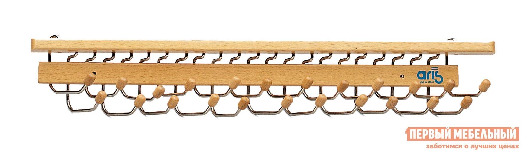 Настенная вешалка Aris Brummel 417/23 Светлое деревоНастенные вешалки<br>Габаритные размеры ВхШхГ x400x330 мм. Удобная вешалка для галстуков и ремней.  Теперь галстуки не будут мяться и их не надо искать.  Вешалку можно расположить как на стене, так и на дверце шкафа. Модель имеет 23 крючка. Основание и наконечники выполнены из натурального бука, крючки — сталь.<br><br>Цвет: Светлое дерево<br>Цвет: Светлое дерево<br>Ширина мм: 400<br>Глубина мм: 330<br>Кол-во упаковок: 1<br>Форма поставки: В собранном виде<br>Срок гарантии: 3 месяца<br>Материал: Деревянные, Из натурального дерева<br>Порода дерева: из бука