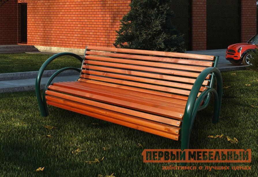 Купить со скидкой Скамейка Koncept Garden С-СГ-1 Массив сосны (красный), Ширина 2000 мм