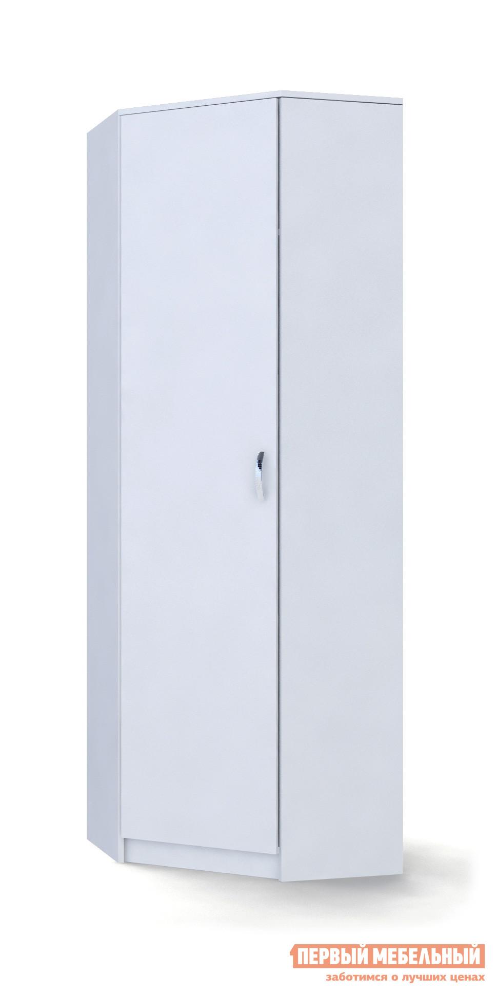 Шкаф распашной МФ Мастер Шкаф угловой (ШУ) БелыйШкафы распашные<br>Габаритные размеры ВхШхГ 2000x670 / 350x670 / 350 мм. Стильный угловой шкаф в белом цвете — отличное решение для современного интерьера.  Внутри располагаются штанга для вешалок и две полки для обуви и головных уборов.  Благодаря компактным размерам, модель прекрасно подойдет для небольшой прихожей. Обратите внимание! В разделе «Аксессуары» можно ознакомиться с моделью антресоли, которой можно дополнить шкаф, тем самым увеличив пространство для хранения. Шкаф универсальный: дверь можно навесить на любую сторону. Шкаф изготавливается из ЛДСП, ручка — металл. Обратите внимание! Модель необходимо крепить к стене для устойчивости.<br><br>Цвет: Белый<br>Цвет: Светлое дерево<br>Высота мм: 2000<br>Ширина мм: 670 / 350<br>Глубина мм: 670 / 350<br>Кол-во упаковок: 2<br>Форма поставки: В разобранном виде<br>Срок гарантии: 2 года<br>Тип: Угловые<br>Материал: Дерево<br>Материал: ЛДСП<br>Размер: Однодверные