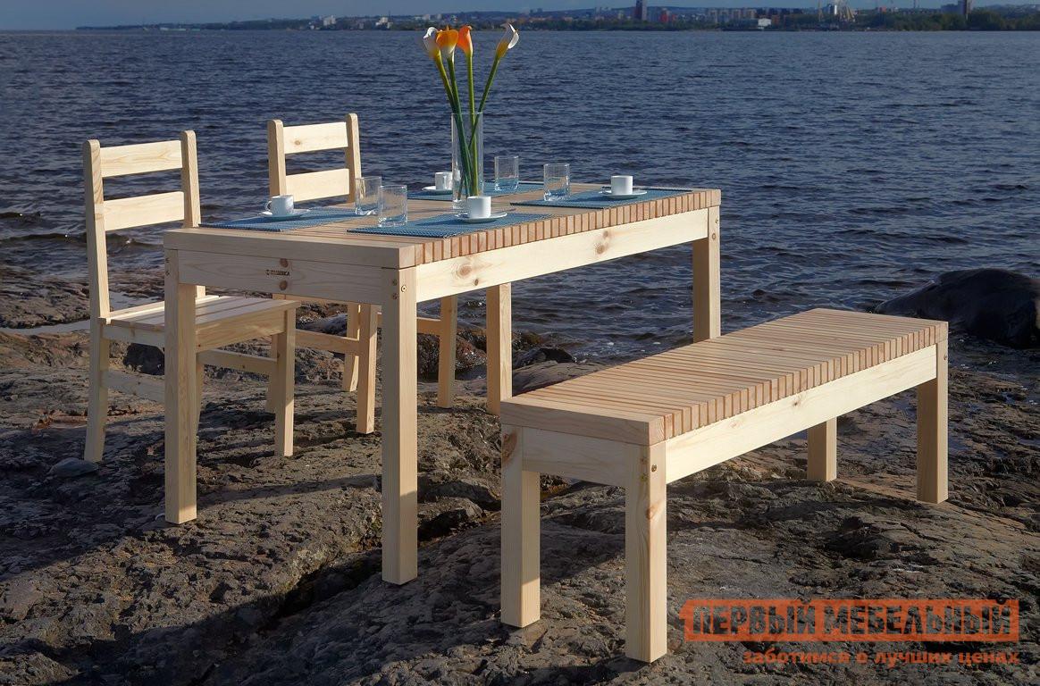 Комплект садовой мебели Timberica Лахти + 2 стула Дачный + скамья Лахти комплект садовой мебели timberica пикник