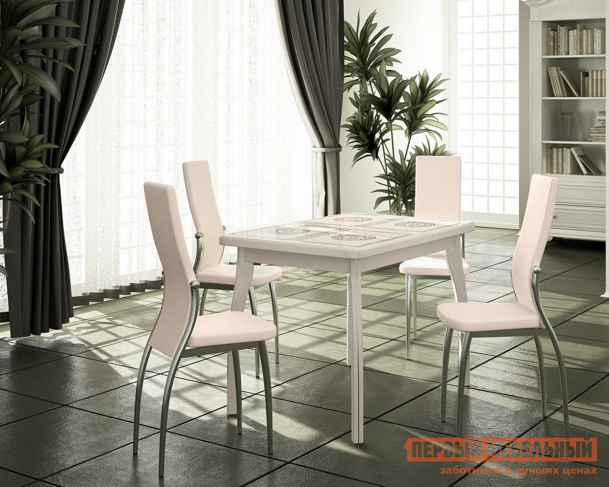 Обеденная группа для столовой и гостиной Домотека Стол Шарди ПР 07 + 4 стула Милано шатура стол пк пр комп 38 в1 179