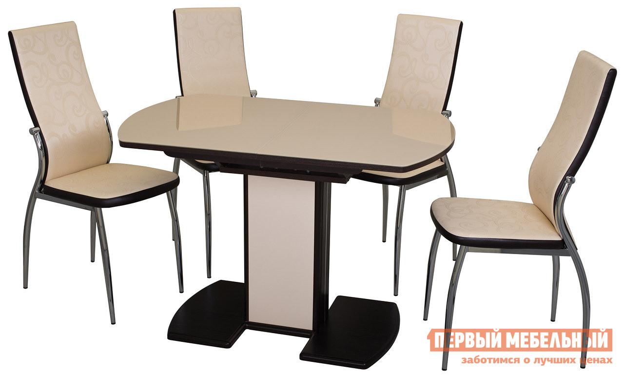 Обеденная группа для столовой и гостиной Домотека Стол Чинзано ПО 05 + 4 стула Милано для гостиной