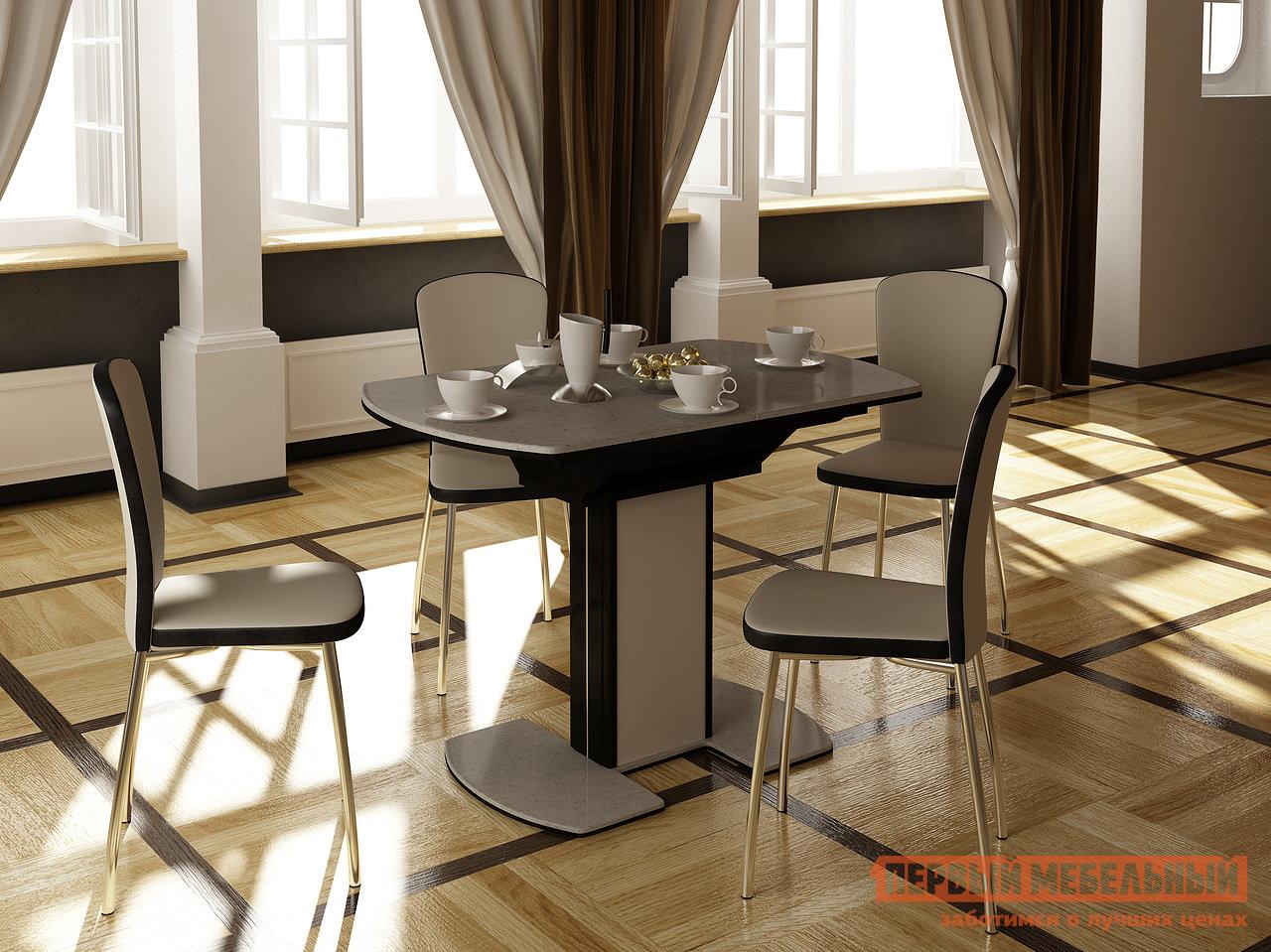 Обеденная группа для столовой и гостиной Домотека Стол Реал ПО КМ 05 + 4 стула Палермо